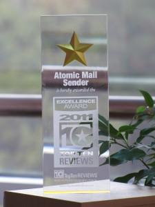 Atomic Mail Sender - Excellence Award 2011