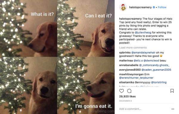 Halo Top Instagram post