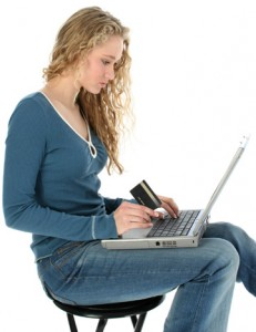 sexy girl with notebook, sexy girl online shopping