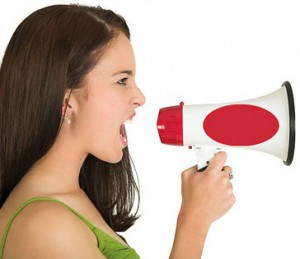 call-2-action-sign-girl-shouting
