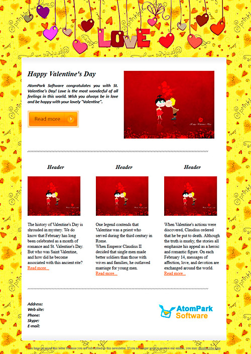 Valentines-day-email-template-yellow