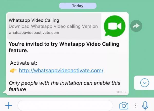 Spam via messangers