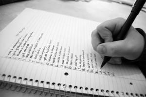 list-on-paper
