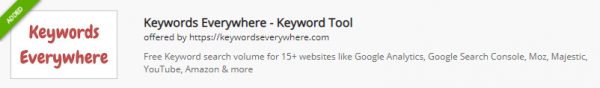 Chrome extension for keywords research