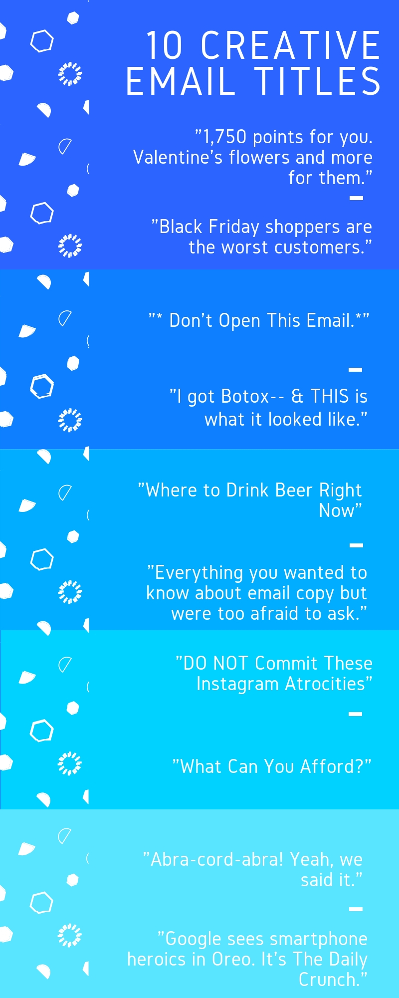 10 Creative Email titles