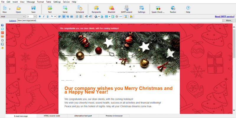 Email header illustration