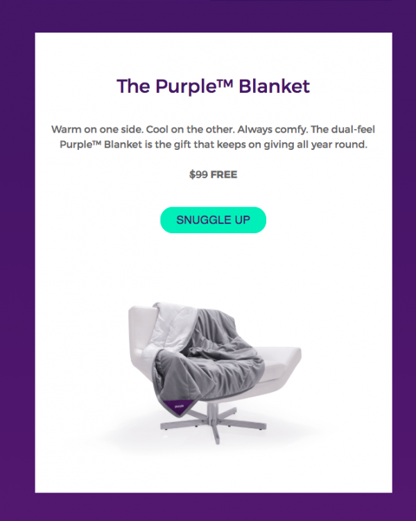 Product card in promo email