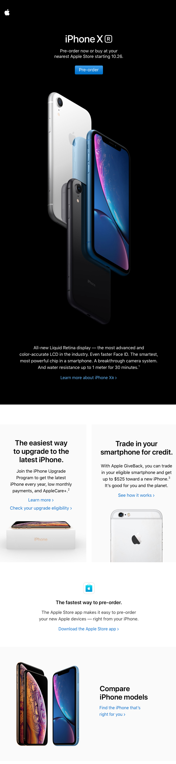Promo email iPhone