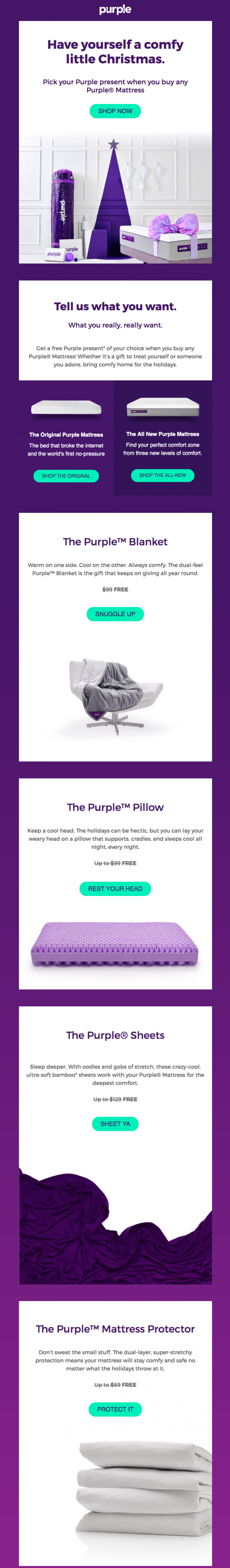 Email promotional purple