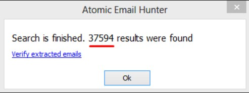 Scraping emails