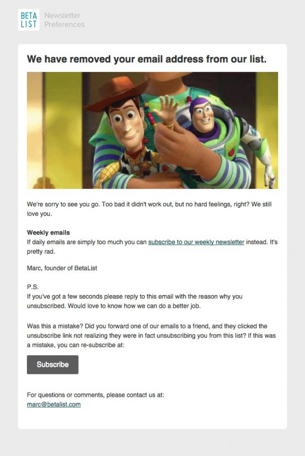Win back email campaign examples