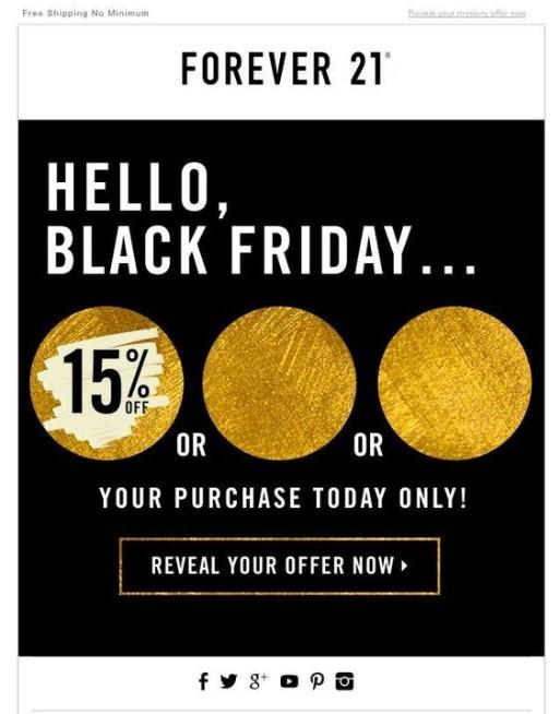 Black Friday emails