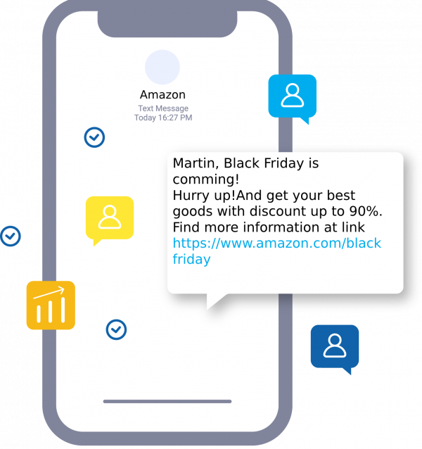 Black Friday SMS campaign