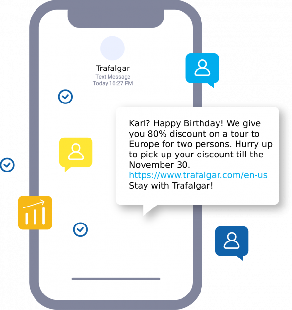 Holiday SMS for clients birthday
