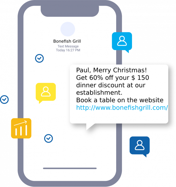 SMS campaign on Christmas