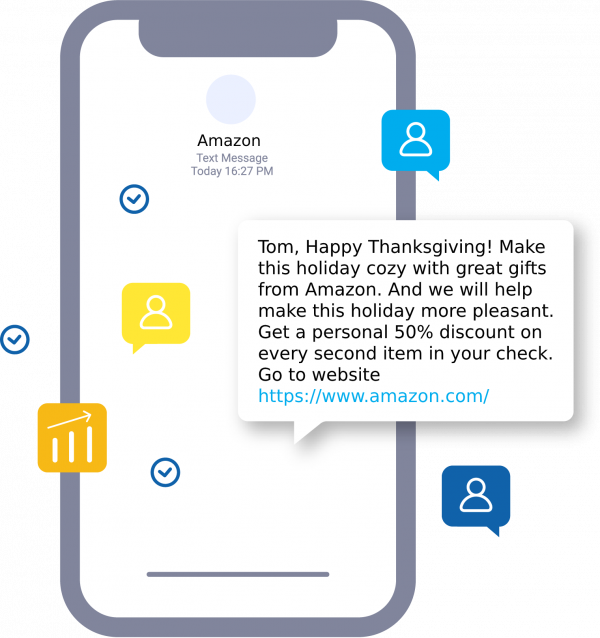 Thanksgiving SMS campaign