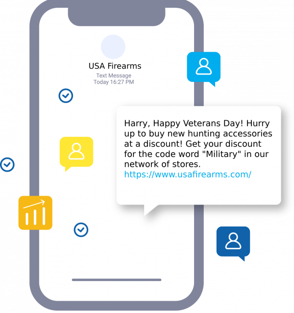 Veterans day SMS campaign